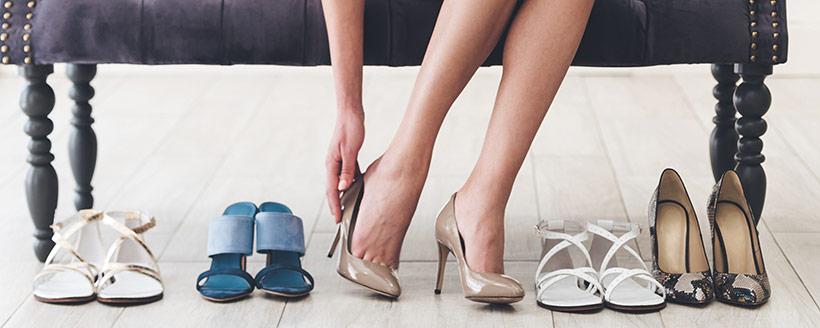 Handla skor till sommaren